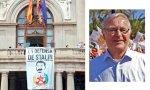 Una pancarta en defensa de Stalin en el Ayuntamiento de Valencia, pero Ribó no sabía nada. Hace años pasó en las Torres de Serranos