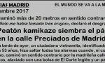 Peatón kamikaze siembra el pánico en la calle Preciados de Madrid