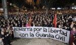 Navarros apoyan a la Guardia Civil en Navarra