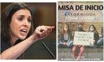 Irene Montero 'haciendo propaganda' de '40 Días por la vida'