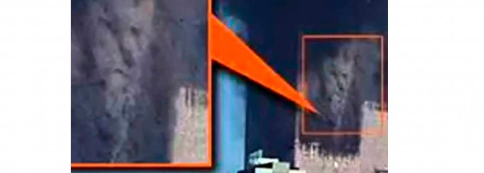 La caída de una de las Torres Gemelas el 11-S  dibujó en el vendaval de humo la imagen de Satanás