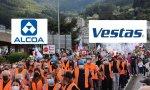 La desindustrialización se ceba con la comarca lucense de A Mariña, donde los trabajadores de Alcoa y Vestas se han manifestado en protesta y pidiendo un futuro industrial