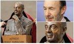 El presidente Pedro Sánchez y Pilar Goya, viuda del político, han destapado un busto que ha asombrado a la red social Twitter por su escaso parecido con el político cántabro