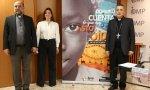 El director nacional de Obras Misionales Pontificias (OMP), José María Calderón, junto a monseñor José Luis Mumbiela y Mónica Marín, presentando la jornada del Domund de este año