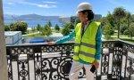 Ana Botín, el día que comenzaron las obras del espacio Pereda, la sede histórica del banco en Santander. Al fondo, el Centro Botín, que no tiene nada que ver con el banco pero sí con la Fundación Botín que preside Javier Botín