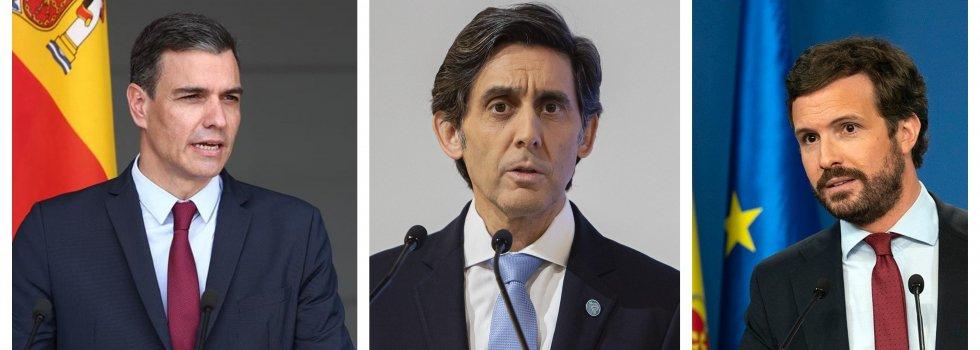 Moncloa presume de controlar Telefónica y Pablo Casado, naturalmente, se cabrea