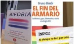 """Índice del libro """"El fin del armario"""", junto a otro de los ejemplares presentes en once institutos públicos de Castellón"""