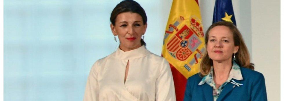 Doña Nadia Calviño y doña Yolanda Díaz... a bofetada limpia