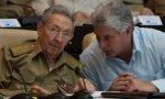 Cuba. Miguel Díaz-Canel, el nuevo presidente-dictador, al lado del tirano veterano, don Raúl Castro