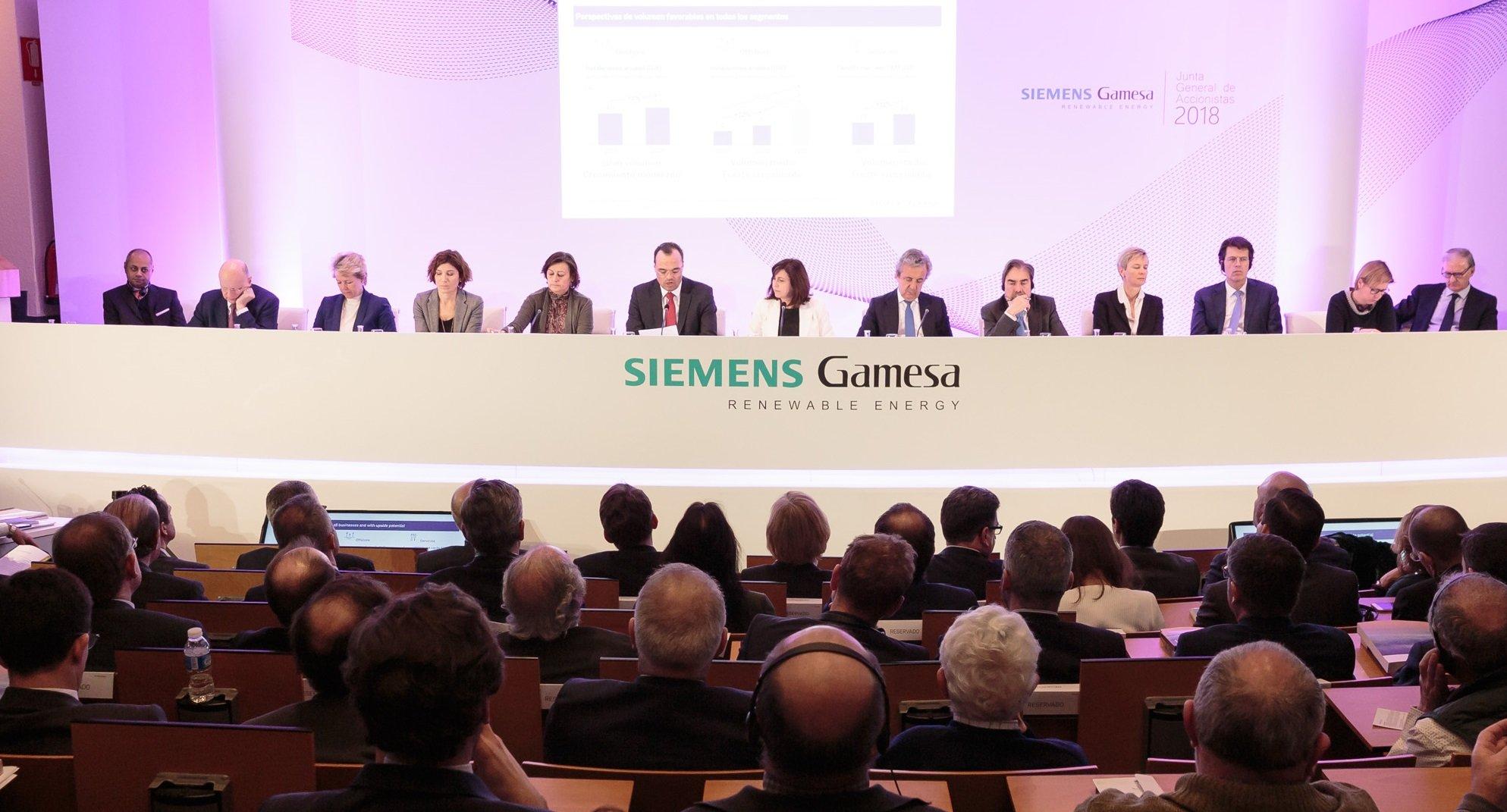 Junta de Siemens Gamesa en Zamudio (Vizcaya)
