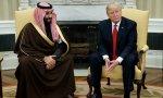 Trump junto al príncipe heredero saudí.