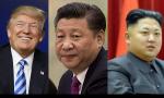 El más peligroso es el del centro. Xi Jinping detiene a Kim Jong-un y a Donald Trump
