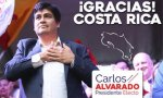 Carlos Alvarado, tras su victoria.