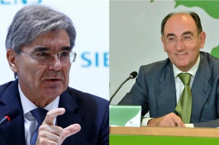 Joe Kaeser e Ignacio Sánchez Galán. Paripé alemán. Sin acuerdo entre Iberdrola y Siemens.