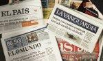 Portadas de la prensa española.