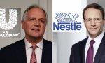 Paul Polman y Mark Schneider, consejeros delegado de Unilever y Netslé