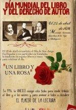 Día del Libro. El 23 de abril murieron Cervantes y Shakespeare.