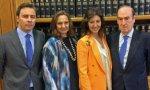 Dimas Gimeno, Marta y Cristina Alvarez Guil y Florencio Lasaga