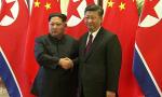 Kim Yong um (Corea del Note) y Xi Jinping (China)