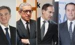 Víctor Iglesias (Ibercaja), Braulio Medel (Unicaja), Manuel Menéndez (Liberbank) y Juan Carlos Escotet (Abanca), han encontrado su sitio.
