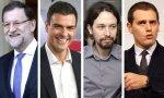 Los cuatro líderes de los principales partidos españoles: ¿RIvera presidente?