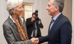 Lagarde (jefa del FMI) y Macri (presidente Argentina)