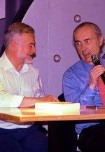 José Javier Esparza y Luis Alberto de Cuenca, en la presentación de 'El final de los tiempos'.
