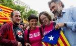 Algunos miembros de la CUP en una manifestación independentista.