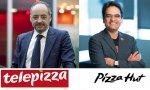 Telepizza se dispara en bolsa tras la alianza con Pizza Hut: empieza a jugar en otra liga. Los presidentes, Pablo Juantegui y Milind Pant