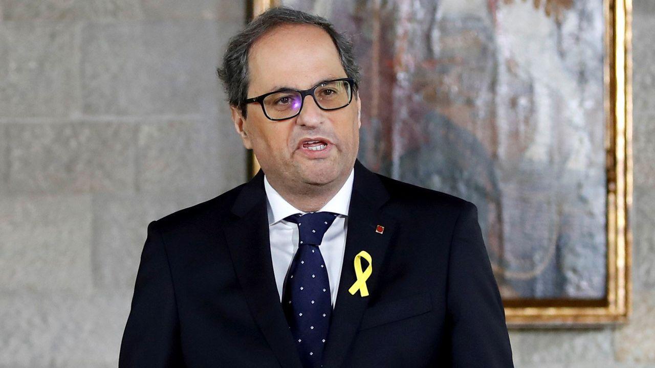 Torra, dolido con ERC, convocará elecciones en Cataluña, tras aprobar los presupuestos y después de reunirse con Sánchez