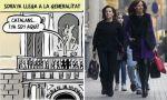 Imágenes de Cataluña. Soraya la ambiciosa y Puigdemont el cobarde